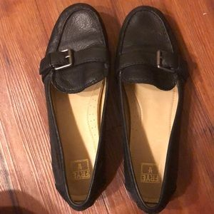 Frye Size 9.5 Black Loafers
